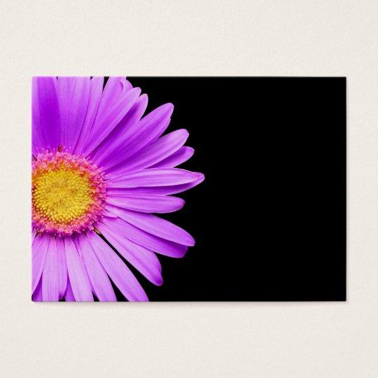 Purple Daisy on Black Customized DaisiesTemplate Business Card