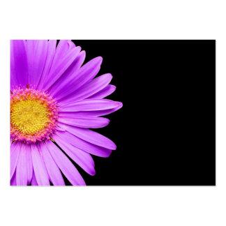 Purple Daisy on Black Customized DaisiesTemplate Large Business Card