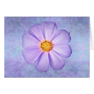 Purple Daisy on Lavender, Teal, and Aqua Template Cards