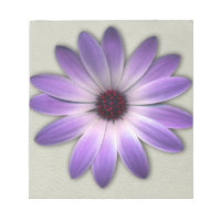 Purple Daisy on Stone Leather Print Note Pads (<em>$13.95</em>)