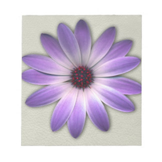 Purple Daisy on Stone Leather Print Note Pads