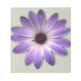 Purple Daisy on Stone Leather Texture Note Pads (<em>$13.95</em>)