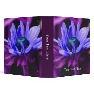 Purple Daisy Painting Floral Binder zazzle_binder
