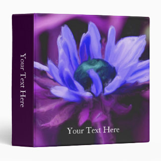 Purple Daisy Painting Floral Binder