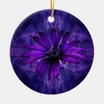 Purple Daisy Passion Christmas Tree Ornament