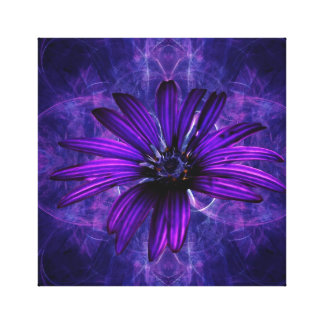 Purple Daisy Passion flower Gallery Wrapped Canvas