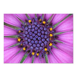 """Purple Daisy Picture 5"""" X 7"""" Invitation Card"""