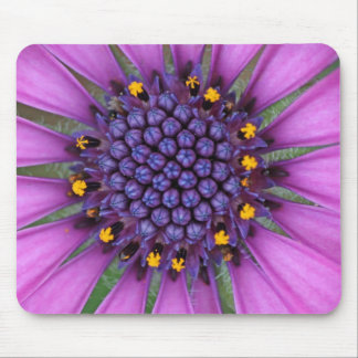 Purple Daisy Picture Mouse Pad