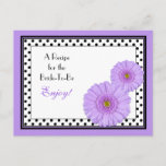 Purple Daisy Recipe Card for the Bride to Be