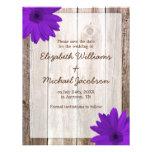 Purple Daisy Rustic Barn Save the Date Custom Invitations