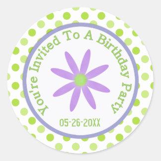 Purple Daisy: Save The Date Sticker