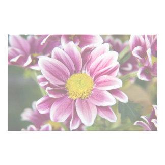 Purple daisy custom stationery