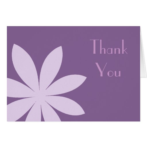Purple Daisy Thank You Note Greeting Card