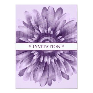 Purple Daisy Vintage Invitations