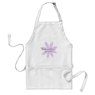 Purple Daisy Wedding Adult Apron