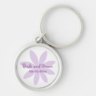 Purple Daisy Wedding Key Chain