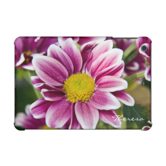 Purple daisy with name iPad mini retina cases