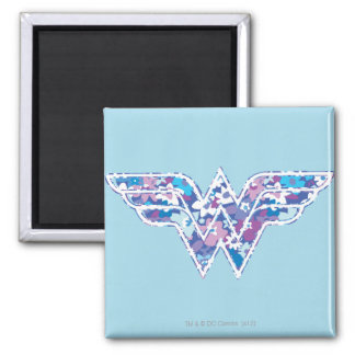 Purple Daisy WW 2 Inch Square Magnet