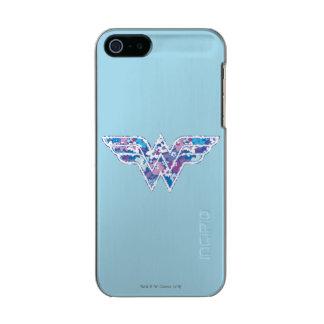 Purple Daisy WW Metallic Phone Case For iPhone SE/5/5s