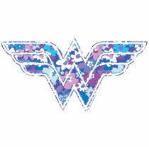 wonder woman, floral, cute, girly, ww symbol, dc comics, heroine, super hero, Photo Sculpture with custom graphic design