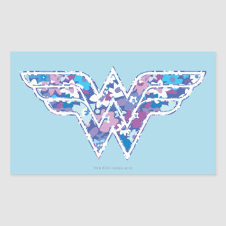 Purple Daisy WW Rectangle Stickers