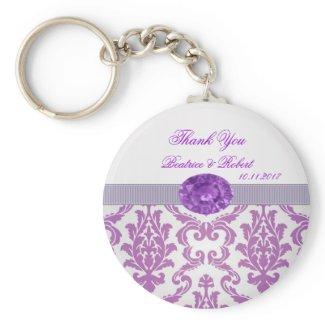 Purple Damask, amethyst picture Keychain keychain