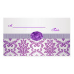 Purple Damask, amethyst picture Wedding Place card Business Card Templates