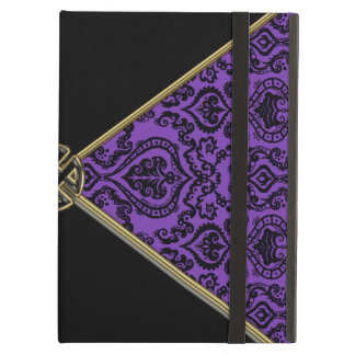 Purple Damask and Gold Celtic Knot iPad Air Cover