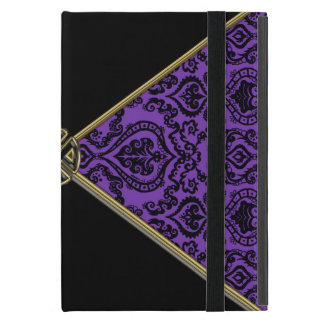 Purple Damask and Gold Celtic Knot iPad Mini Cover