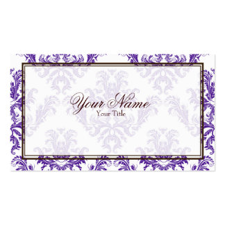 Purple Damask Business Card