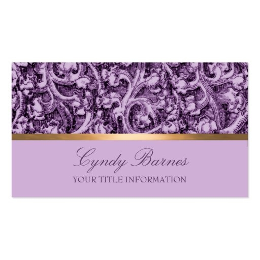 Purple damask business card zazzle for Purple business cards