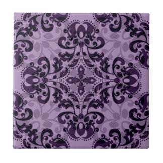 Purple damask desire ceramic tile