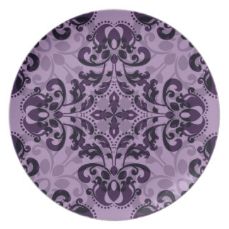 Purple damask desire plates