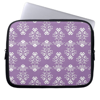 Purple Damask Electronics Bag Laptop Computer Sleeve
