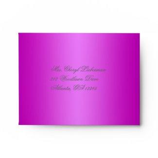 Purple Damask Envelope for Reply Card envelope