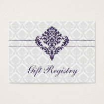 purple  damask Gift registry  Cards