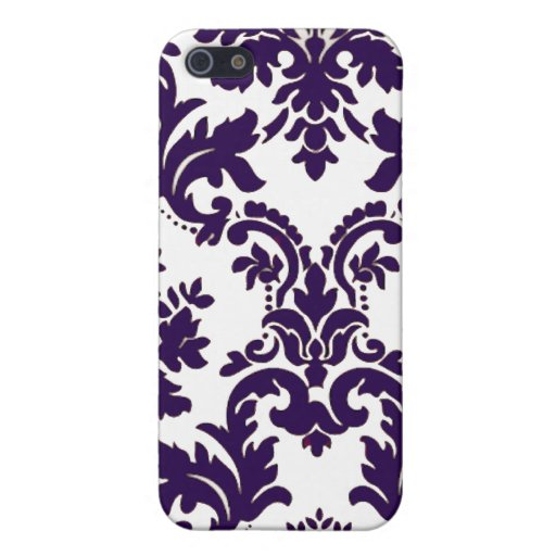 Purple Damask iPhone 5 Cover