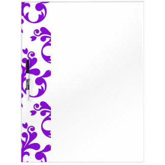 Purple damask Large Dry Erase Board