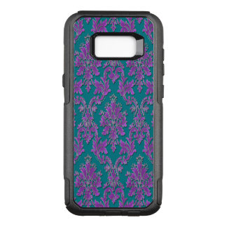 Purple Damask on Teal or Your Color OtterBox Commuter Samsung Galaxy S8+ Case