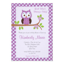 Owl baby shower invitations announcements zazzle filmwisefo Gallery