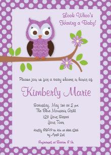 Purple owl baby shower invitations zazzle purple damask owl baby shower invitation filmwisefo