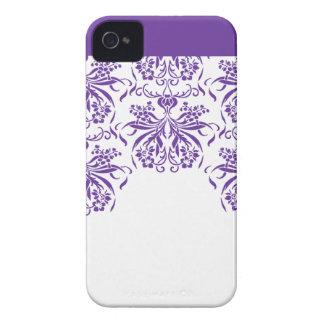 Purple Damask  Pattern Blackberry Bold Phone Case