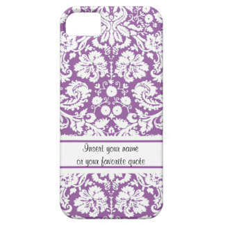 Purple Damask Pattern iPhone 5 Cases
