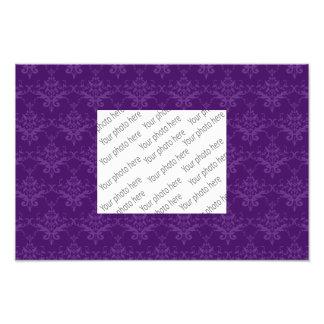 Purple damask pattern photo