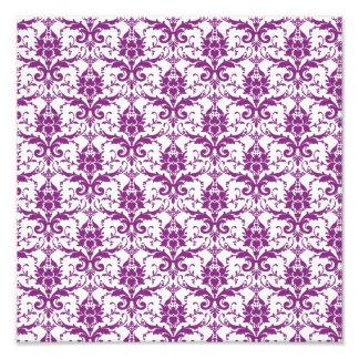 Purple Damask Pattern Photo Print