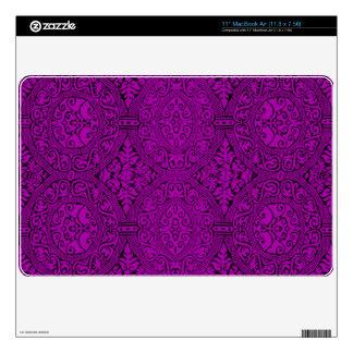 Purple Damask Pattern Skins