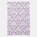Purple Damask Pattern Towels