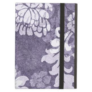Purple damask - plant motif elegant case cover for iPad air