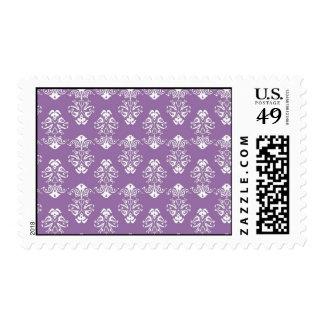 Purple Damask Postage