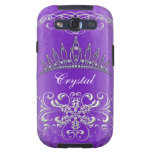 Purple Damask Princess Tiara Personalized Case Galaxy SIII Cases